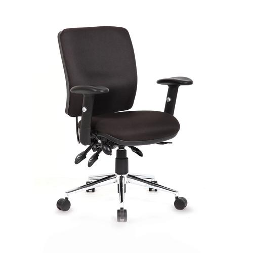 5 Star Elite Support Chiro Chair Black 480x460-510x480-580mm Ref OP000010