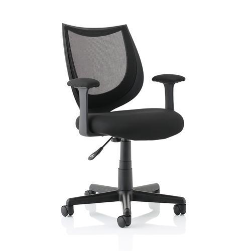 5 Star Office Gleam SoHo Mesh Operators Chair Black 470x480x410-510mm Ref 11027-03