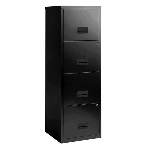 Filing Cabinet Steel 4 Drawer A4 400x400x1250mm Ref 95057