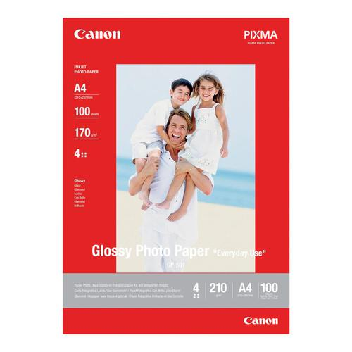 Canon GP-501 Photo Inkjet Paper Glossy 210gsm A4 Ref 0775B001 [100 Sheets]