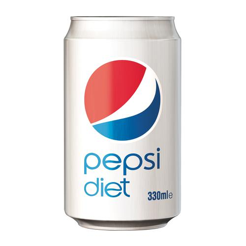 Pepsi Diet Soft Drink Can 330ml Ref 202428 [Pack 24]