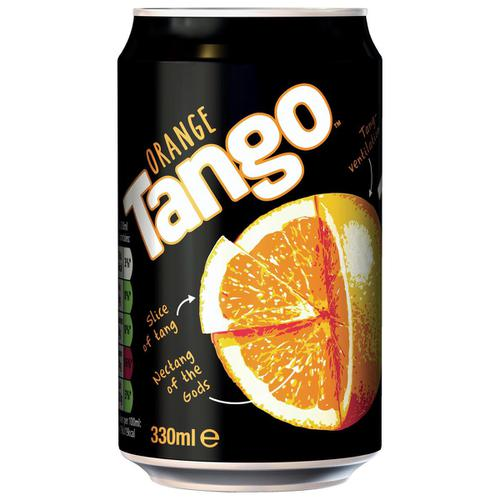 Tango Orange Soft Drink Can 330ml Ref 203353 [Pack 24]