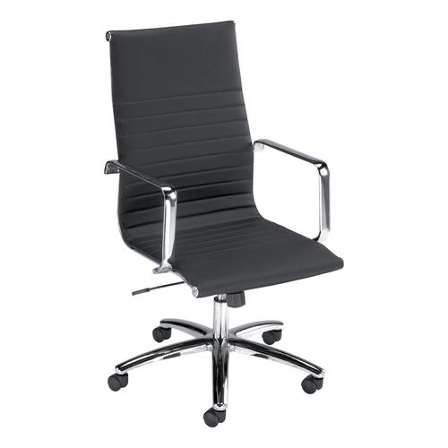 Trexus S7A Leather Look Executive Chair Black 490x430x480-560mm Ref 11183-01