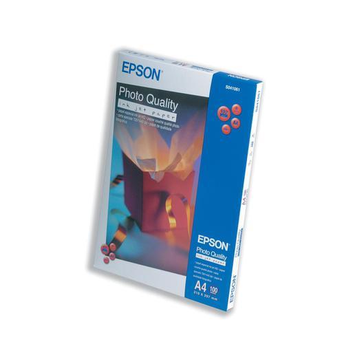 Epson Photo Quality Inkjet Paper Matt 102gsm Max.1440dpi A4 White Ref C13S041061 [100 Sheets]