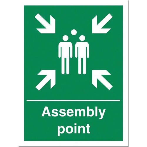 Stewart Superior Fire Assembly Point Sign W400xH600mm PVC Ref KS009PVC