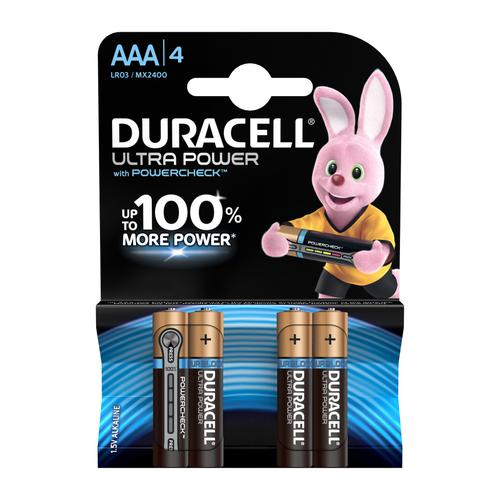 Duracell Ultra Power MX2400 Battery Alkaline 1.5V AAA Ref 81417787 [Pack 4]