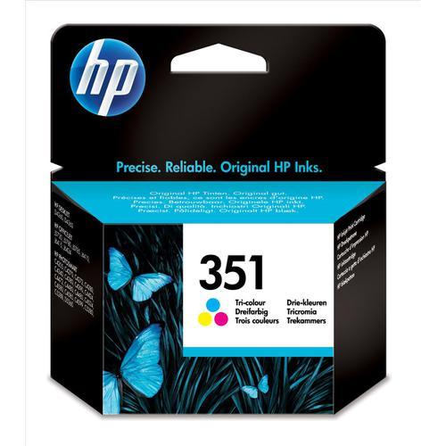 Hewlett Packard [HP] No.351 Inkjet Cartridge Page Life 170pp 3.5ml Tri-Colour Ref CB337EE