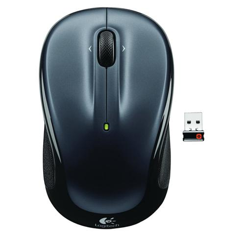 Logitech M325 Mouse USB Wireless Optical 5 Button Both Handed Silver Ref 910-002142