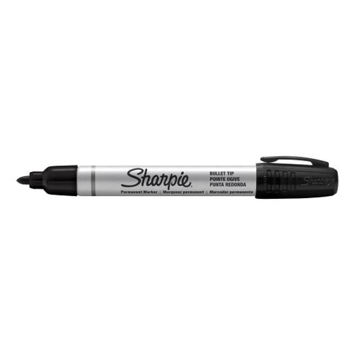 Sharpie Pro Permanent Marker Fine Bullet Tip 1.0mm Line Black Ref S0945720 [Pack 12]