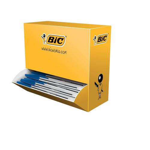 Bic Cristal Ball Pen Clear Barrel 1.0mm Tip 0.32mm Line Blue Ref 896039 [Pack 90 plus 10 FREE]