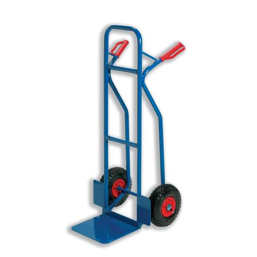 Warehouse Hand Trolley Capacity 180kg Foot Size W495xL510mm Blue