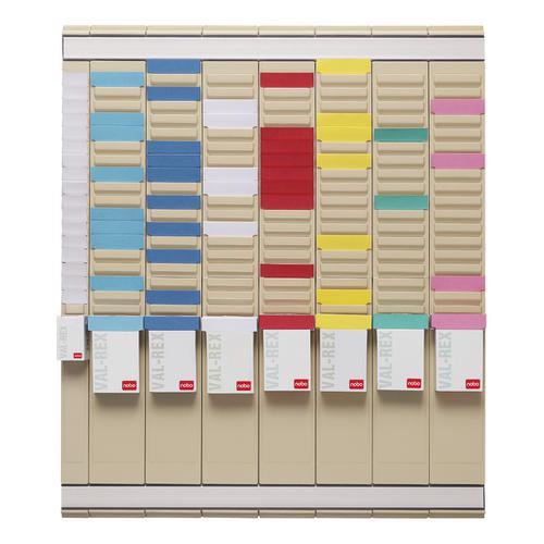 Nobo Midi T-Card Kit Office Planner 8 Columns 24 Slots plus Cards Links Inserts Ref 2911080