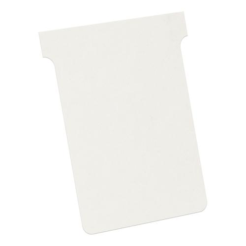 Nobo T-Cards 160gsm Tab Top 15mm W92x Bottom W80x Full H120mm Size 3 White Ref 2003002 [Pack 100]