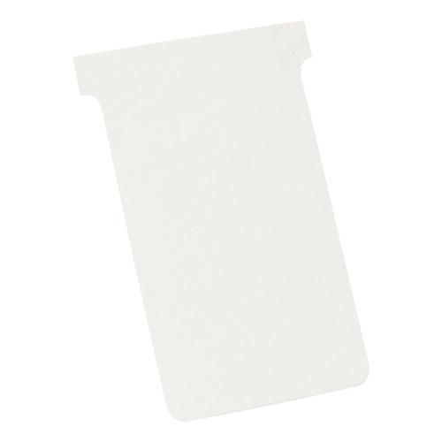 Nobo T-Cards 160gsm Tab Top 15mm W124x Bottom W112x Full H180mm Size 4 White Ref 2004002 [Pack 100]