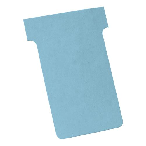 Nobo T-Cards 160gsm Tab Top 15mm W60x Bottom W48.5x Full H85mm Size 2 Light Blue Ref 2002006 [Pack 100]