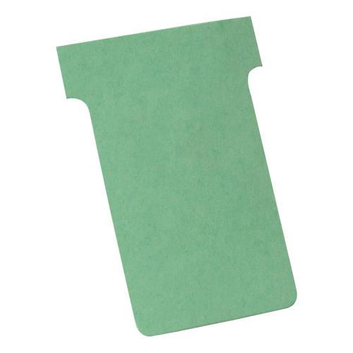 Nobo T-Cards 160gsm Tab Top 15mm W60x Bottom W48.5x Full H85mm Size 2 Green Ref 32938902 [Pack 100]
