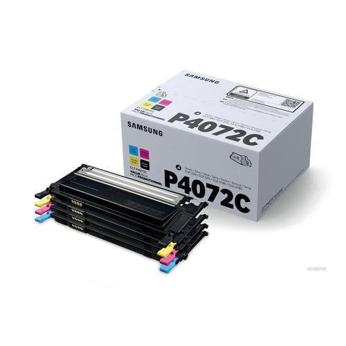 Samsung CLT-P4072C Toner CartPage Life1500ppBlack/Cyan/Magenta/Yell 1000pp Ref CLT-P4072C SU382A[Pack 4]