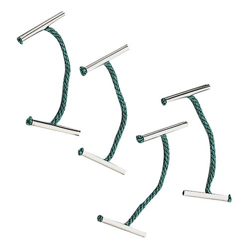 5 Star Office Treasury Tags Metal-ended Length 25mm Green [Pack 100]