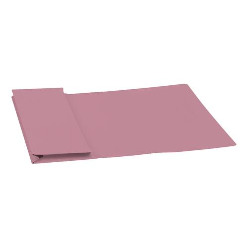 5 Star Elite Document Wallet Full Flap 315gsm Capacity 35mm Foolscap Pink [Pack 50]