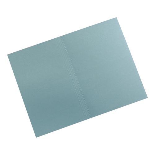 5 Star Elite Square Cut Folders 315gsm Heavyweight Manilla Foolscap Blue [Pack 100]