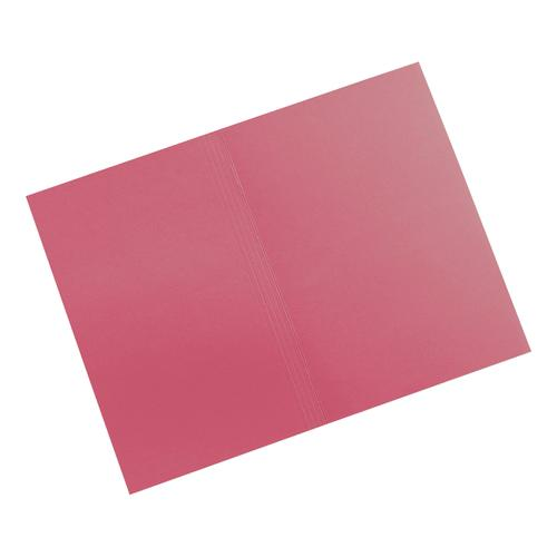 5 Star Elite Square Cut Folders 315gsm Heavyweight Manilla Foolscap Red [Pack 100]