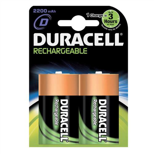 Duracell Battery Rechargeable Accu NiMH Capacity 3000mAh D Ref 81364737 [Pack 2]