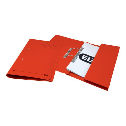Elba StrongLine Transfer Spring File Recycled 320gsm Foolscap Red Ref 100090278 [Pack 25]