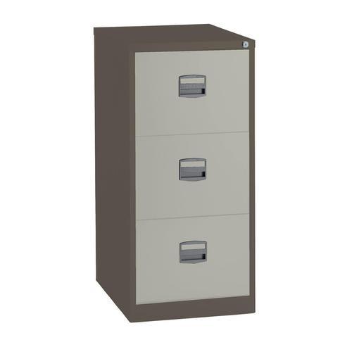Trexus 3 Drawer Filing Cabinet 470x622x1016mm Coffee/Cream Ref 515538
