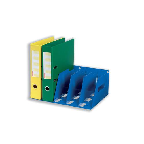 Lever Arch Filing Rack Portable Rigid Metal W410xD292xH160mm Blue
