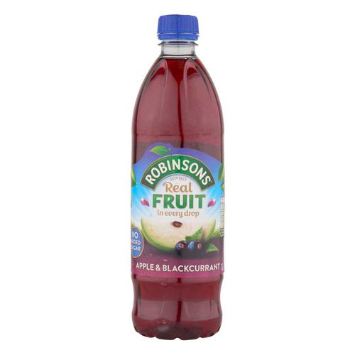 Robinsons Squash No Added Sugar 1 Litre Apple & Blackcurrant Ref 0402013 [Pack 12]
