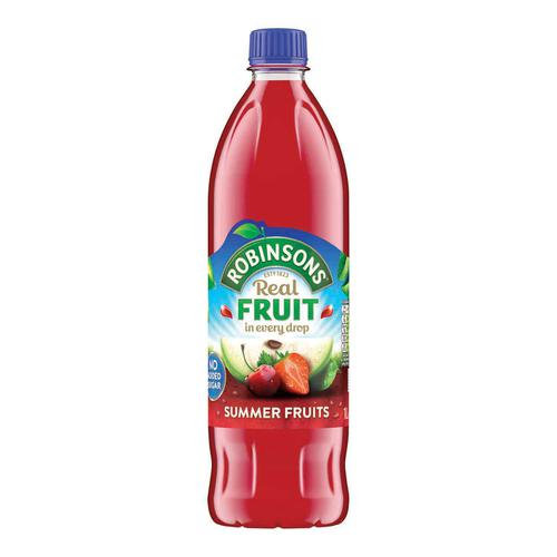 Robinsons Squash No Added Sugar 1 Litre Summer Fruits Ref 0402017 [Pack 12]