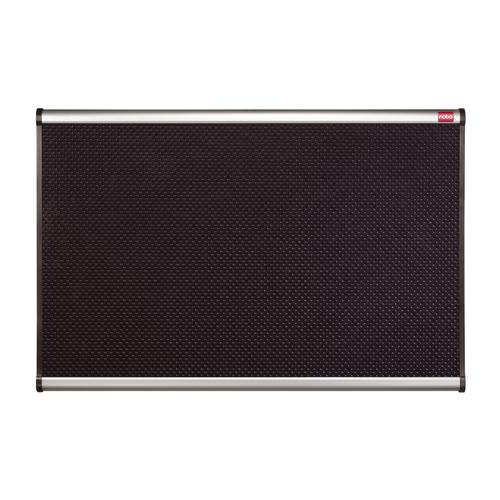 Nobo Classic Noticeboard High-density Foam with Aluminium Finish W900xH600mm Black Ref QBPF9060