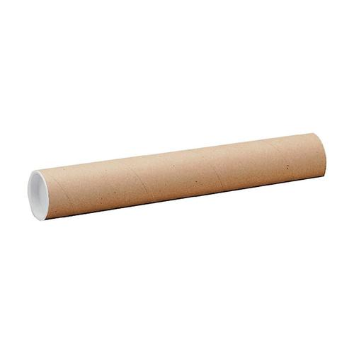 Postal Tube Cardboard with Plastic End Caps L610xDia.76mm RBL10523 [Pack 12]