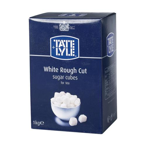 Tate & Lyle White Sugar Cubes Rough-cut 1 Kg Ref 412090