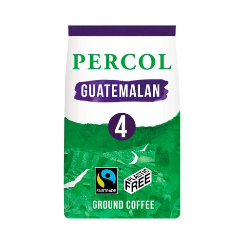 Percol Fairtrade Guatemala Ground Coffee Medium Roasted Plastic Free 200g Ref 0403272
