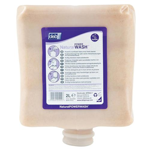 DEB Natural Power Wash Hand Soap Refill Cartridge 2 Litre Ref N03855