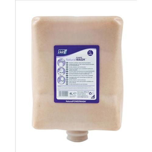 DEB Natural Power Wash Hand Soap Refill Cartridge 4 Litre Ref N03862