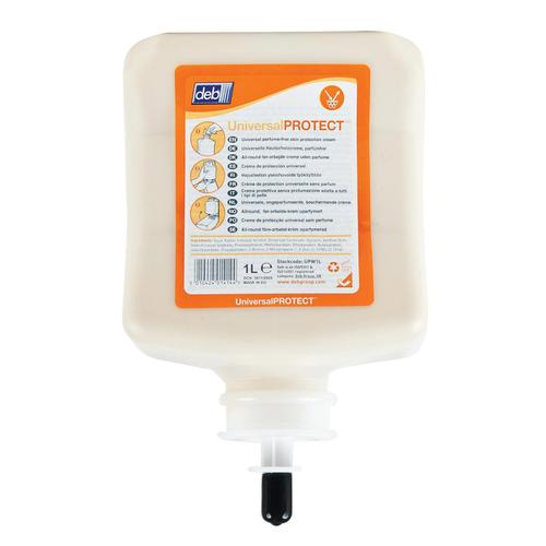 DEB Universal Pre-Work Protect Hand Cream Refill Cartridge 1 Litre Ref N03840