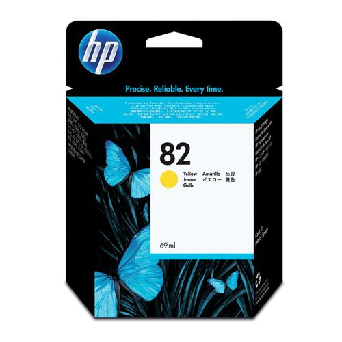 Hewlett Packard [HP] No.82 Inkjet Cartridge High Yield Page Life 1430pp 69ml Yellow Ref C4913A