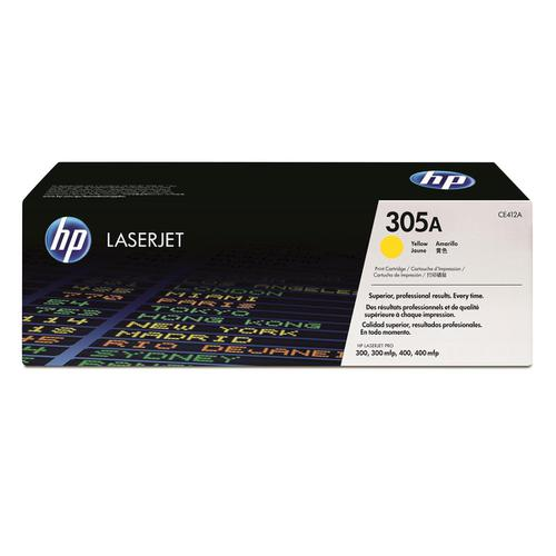 HP 305A Laser Toner Cartridge Page Life 2600pp Yellow Ref CE412A