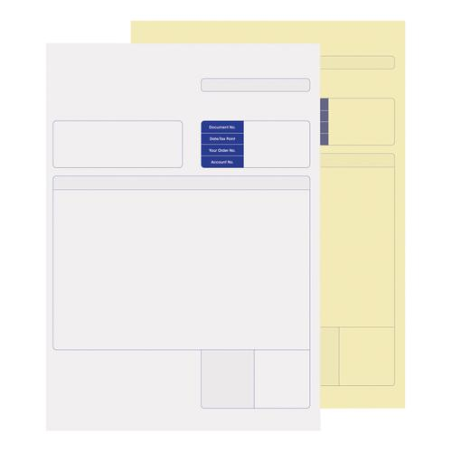 Sage Compatible Multipurpose Form 2-Part for Laser or Inkjet White Yellow Ref SE82 [Pack 500]
