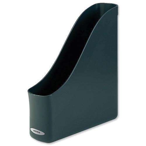 Rexel Agenda2 Magazine Rack File Finger-pull Recycled A4 Charcoal Ref 2101022