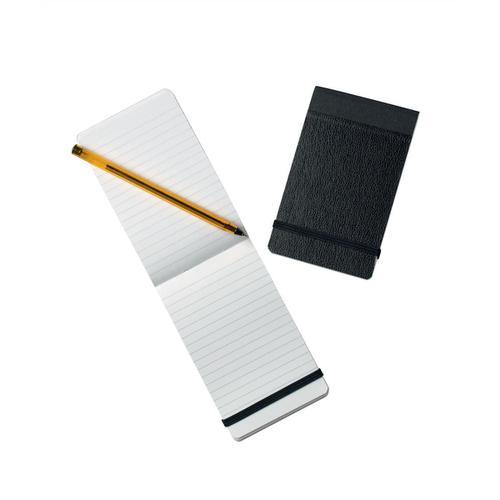 Silvine Elasticated Pocket Notebook 75gsm Ruled 160pp 78x127mm Black Ref 190 [Pack 12]