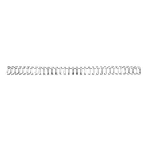 GBC Binding Wire Elements 34 Loop for 115 Sheets 12.5mm A4 Silver Ref RG810897 [Pack 100]