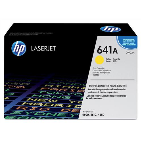 HP 641A Laser Toner Cartridge Page Life 8000pp Yellow Ref C9722A