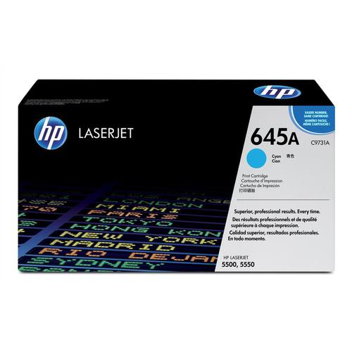 HP 645A Laser Toner Cartridge Page Life 12000pp Cyan Ref C9731A