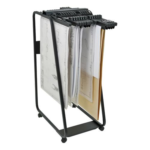 Arnos Hang-A-Plan General Front Load Trolley for Approx 20 Binders A0-A1-A2-B1 W550xD800xH1320mm Ref D060