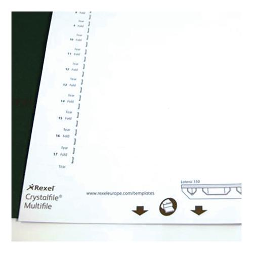 Rexel Crystalfile Classic Card Inserts for Lateral Suspension File Tabs White Ref 70676 [Pack 34]