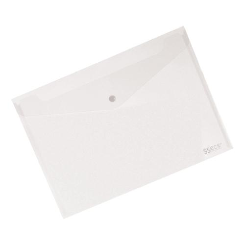 SSeco Wallet Popper Seal Heavy-duty Polypropylene Oxo-biodegradable A4 Clear Ref 30085-CL [Pack 5]