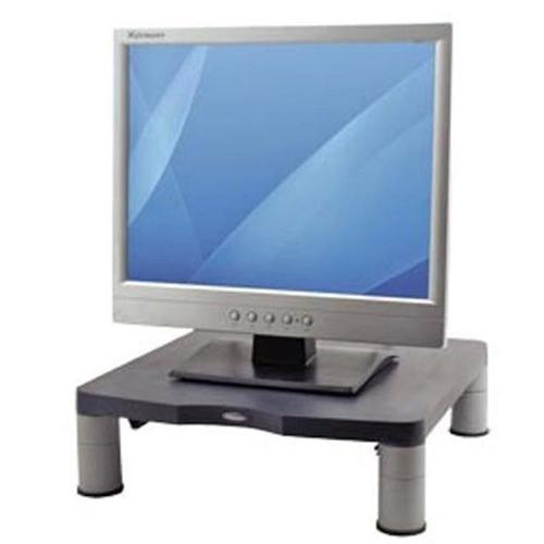 Fellowes Standard Monitor Riser 17in CRT 21in TFT Capacity 27kg 3 Heights 51-102mm Graphite Ref 9169301